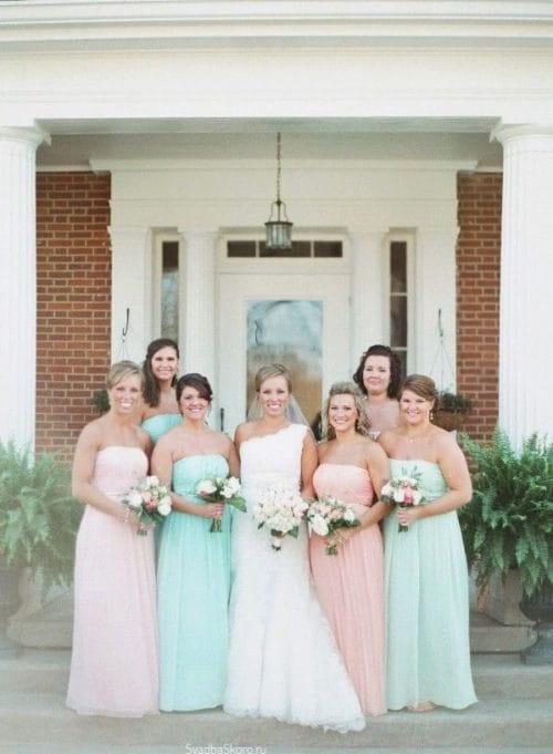 Мятно-розовый цвет свадьбы