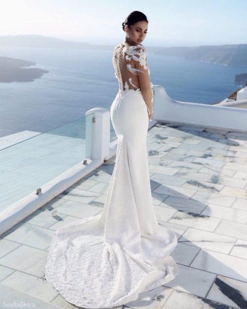 обтягивающее платье на свадьбу