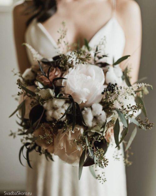 букет невесты рустик